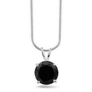 Montebello ketting Berfun Black - Dames - Zilver Gerhodineerd - Zirkonia - 10x10 mm - 42 cm-0