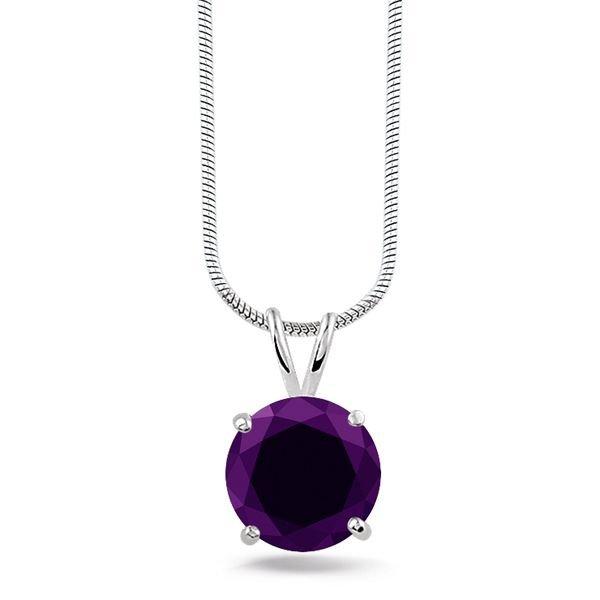 Montebello ketting Berfun Purple - Dames - Zilver Gerhodineerd - Zirkonia - 10x10 mm - 42 cm-0