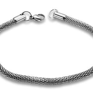 Amanto Armband Fileman - Dames - 316L Staal PVD - Slang - 4,2 mm - 20 cm-0