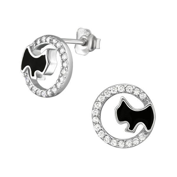 Zilveren oorbellen met salamander-24406