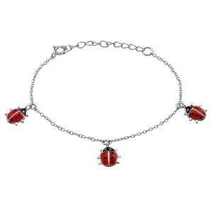 Amanto Kids Armband Gayle - Meisjes - 925 Zilver Gerhodineerd - Epoxy - Dier - 8x8 mm - 12+3 cm-0