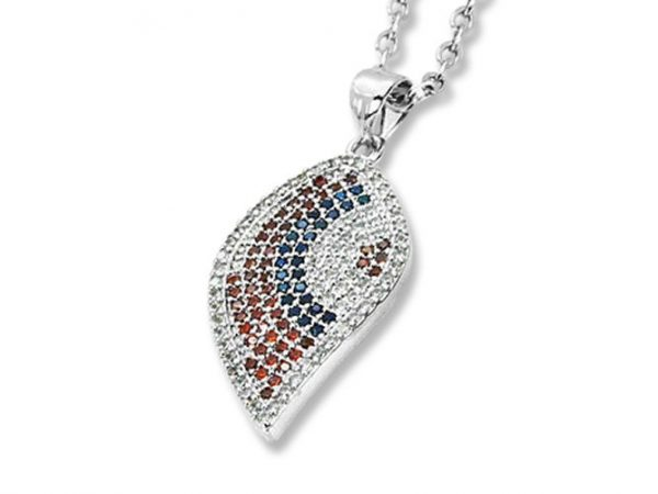 Amanto Ketting Eyse B - Dames - 316L Staal PVD - Zirkonia - 27X14 mm - 50 cm -0
