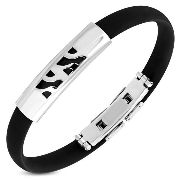Montebello Armbanden Fred C - Unisex - 316L Steel - Rubber - 10mm - 21cm (aanpasbaar)-0