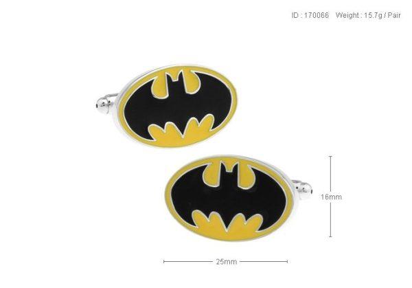 Montebello Manchetknopen Batman Y - 316L Staal - Email - 25x16mm-25401