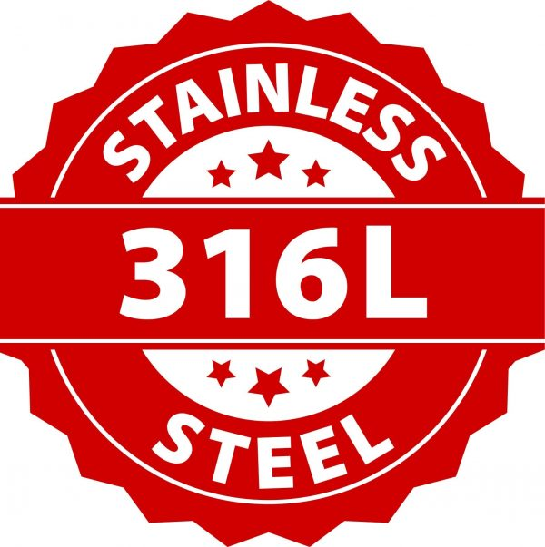 Amanto manchetknopen Letter P - Heren - 316L Staal - Alfabet - 12x15 mm-25718