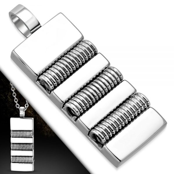 Amanto Ketting Gerco - Heren - 316L Staal - 35x12mm - 50cm-25593