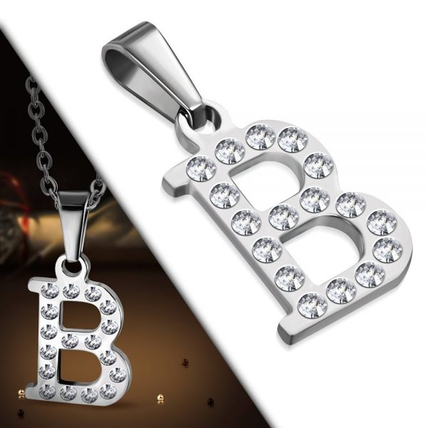 Amanto Ketting Letter B - Unisex - 316L Staal - Alfabet - 20x13mm - 50cm-25461