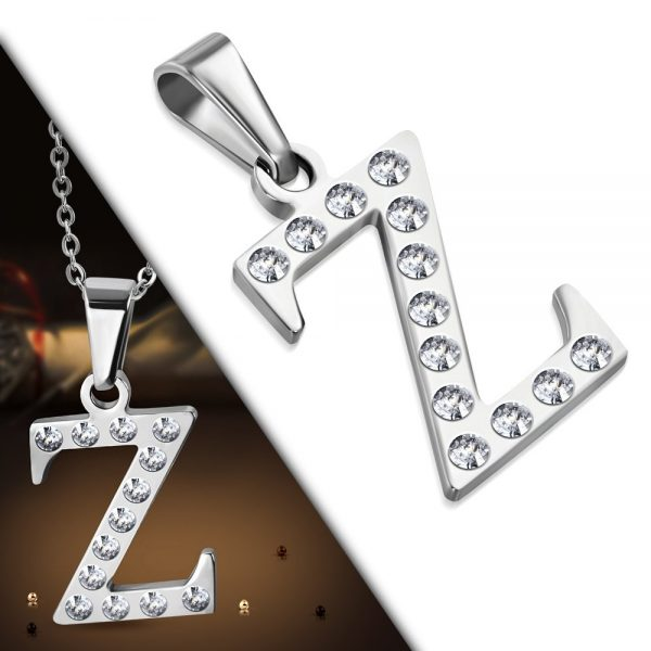 Amanto Ketting Letter Z - Unisex - 316L Staal - Alfabet - 20x15mm - 50cm-25529