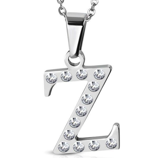 Amanto Ketting Letter Z - Unisex - 316L Staal - Alfabet - 20x15mm - 50cm-0