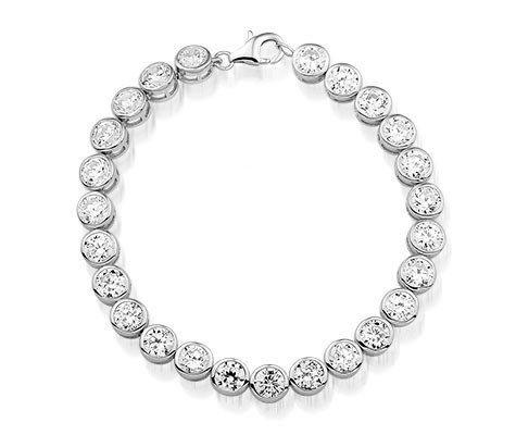 Montebello Armband Janina - Dames - Zilver Gerh. - Zirkonia - ∅7mm - 17cm-0