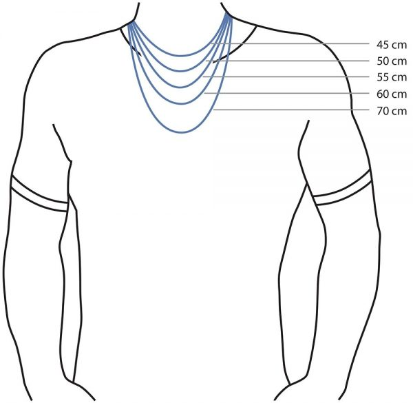 Amanto Ketting Gerco - Heren - 316L Staal - 35x12mm - 50cm-25587