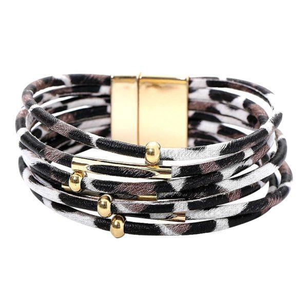 Montebello Armband lani - Dames - Pu Leer - Magnetische Sluiting - 20cm-0