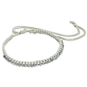 Montebello Armband Anita - Unisex - Touw - Bolletjes - 20cm (aanpasbaar)-0