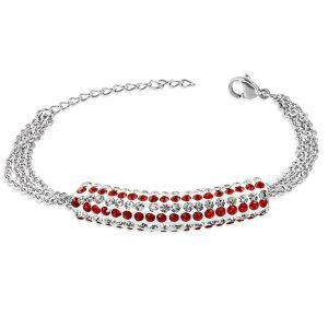 Montebello Armband Aina - Dames - 316L Staal - Shamballa - 17+4cm-0