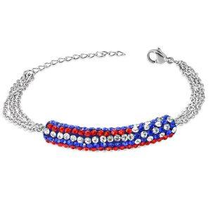 Montebello Armband Aina Blue - Dames - 316L Staal - Shamballa - 17+4cm-0