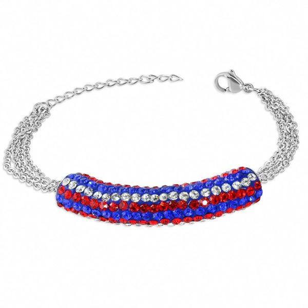 Montebello Armband Aina Red - Dames - 316L Staal - Shamballa - 17+4cm-0