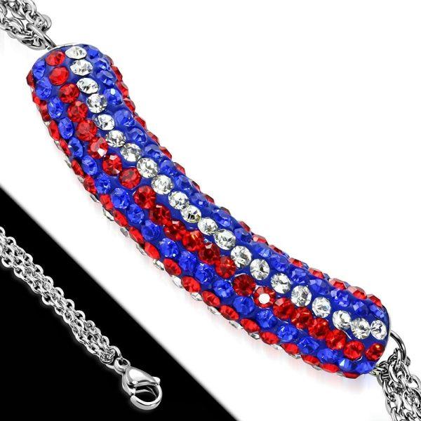 Montebello Armband Aina Red - Dames - 316L Staal - Shamballa - 17+4cm-26150