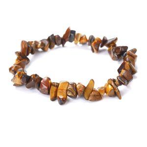 Montebello Armband Adria T - Dames - Helende Natuursteen - Tijgeroog - Rek-0