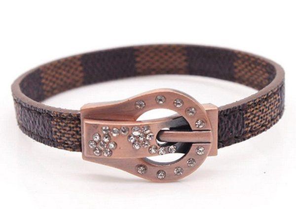 Montebello Armband Adina - Dames - Leer - Strass - Print - 20cm-0