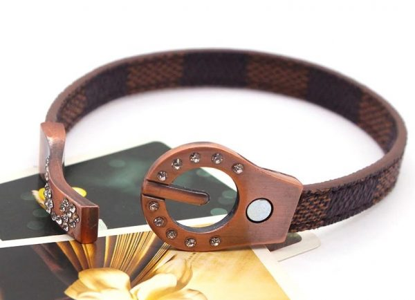 Montebello Armband Adina - Dames - Leer - Strass - Print - 20cm-25917