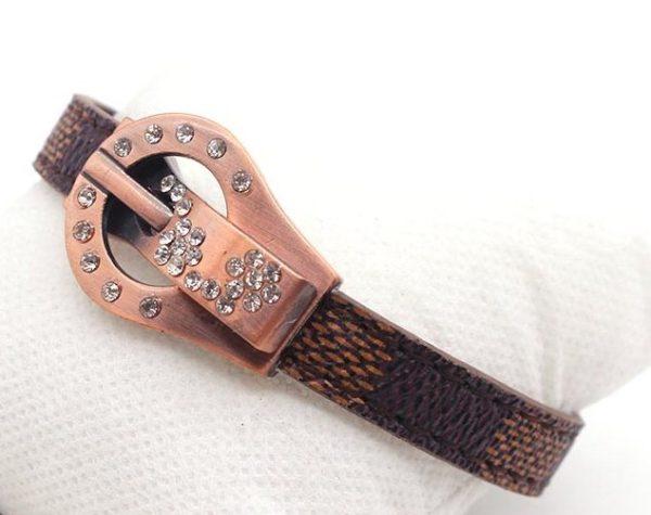 Montebello Armband Adina - Dames - Leer - Strass - Print - 20cm-25916