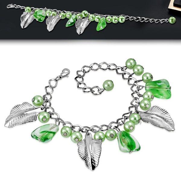 Montebello Armband Azia FBF066 - Dames - Glasbedels - Aanpasbare Lengte-26249
