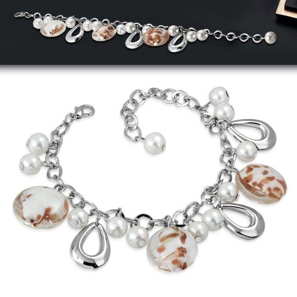 Montebello Armband Azia FBF078 - Dames - Glasbedels - Aanpasbare Lengte-26256