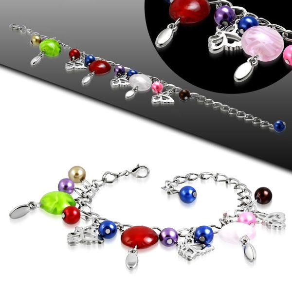Montebello Armband Azia FBF569 - Dames - Glasbedels - Vlinder - Aanpasbare Lengte-26303