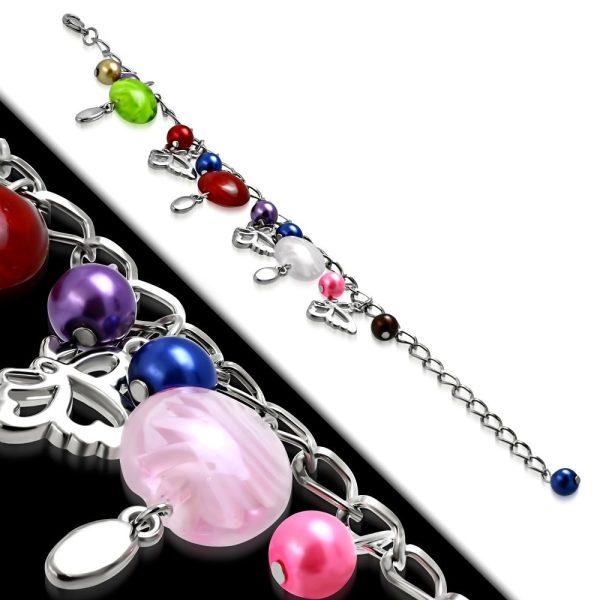 Montebello Armband Azia FBF569 - Dames - Glasbedels - Vlinder - Aanpasbare Lengte-26302