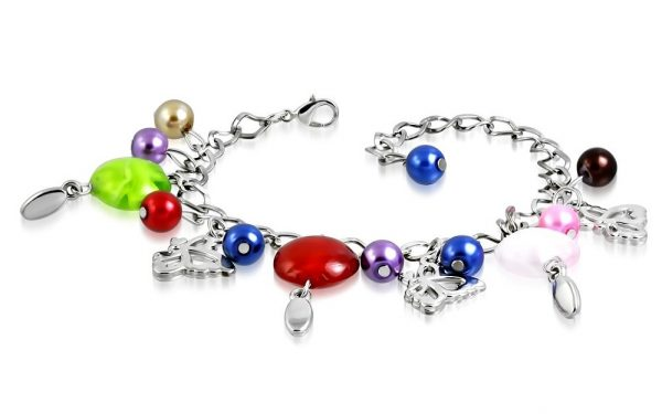 Montebello Armband Azia FBF569 - Dames - Glasbedels - Vlinder - Aanpasbare Lengte-0