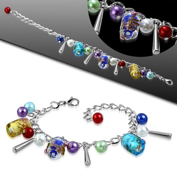 Montebello Armband Azia FBF572 - Dames - Glasbedels - Aanpasbare Lengte-26324