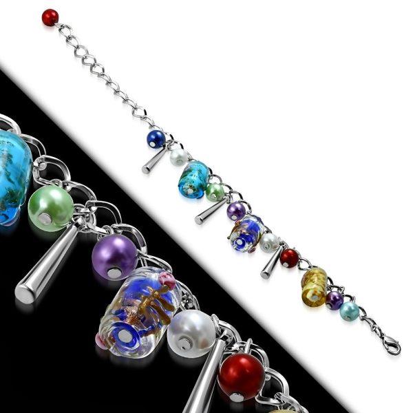 Montebello Armband Azia FBF572 - Dames - Glasbedels - Aanpasbare Lengte-26323