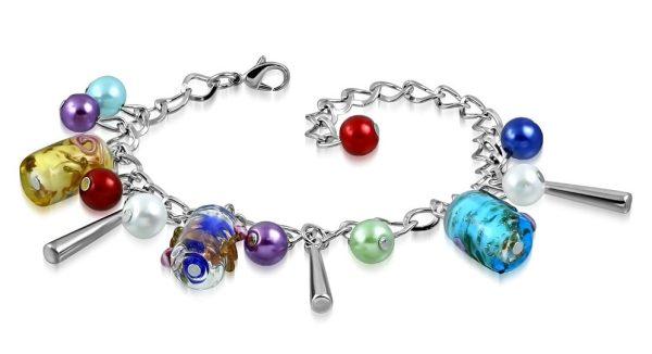 Montebello Armband Azia FBF572 - Dames - Glasbedels - Aanpasbare Lengte-0