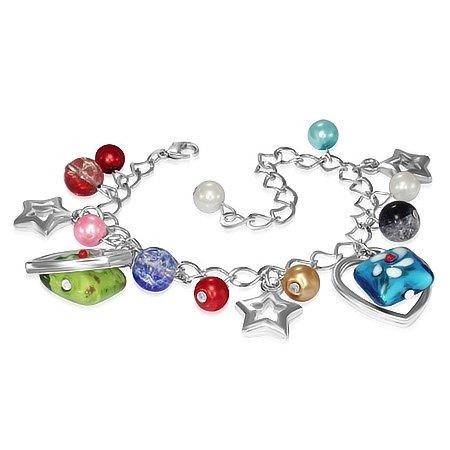 Montebello Armband Azia FBF574 - Dames - Glasbedels - Aanpasbare Lengte-0