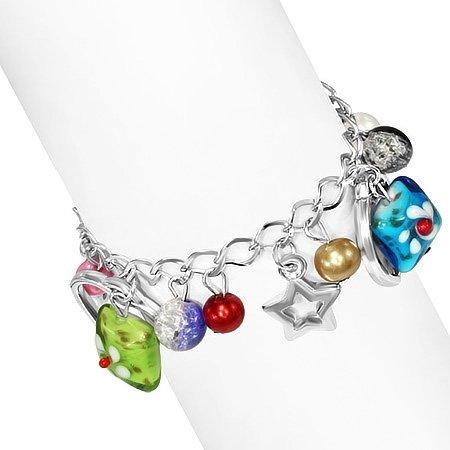 Montebello Armband Azia FBF574 - Dames - Glasbedels - Aanpasbare Lengte-26338