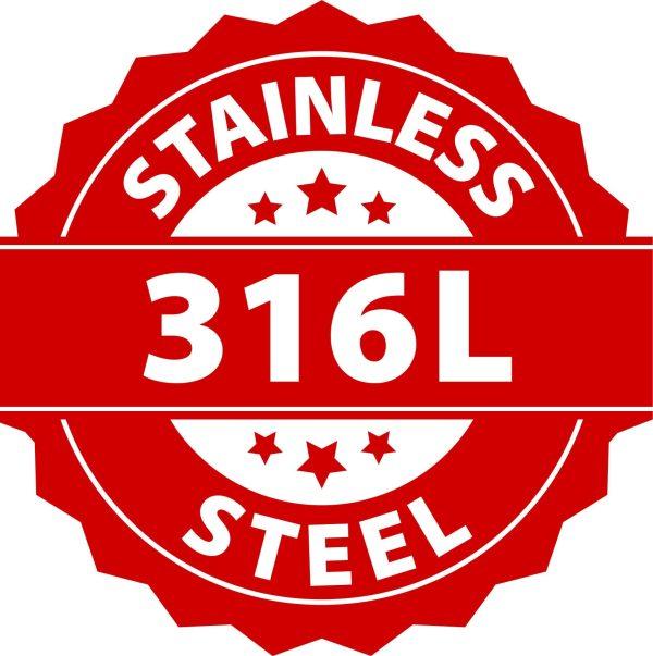 Amanto Manchetknopen Letter M - 316L Staal - Alfabet - 15x16mm-27205
