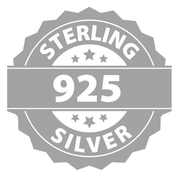 Montebello Ketting Jan DZ414 - Swarovski® Druppel - 925 Zilver Gerhod. - 16mm - 42cm-26886